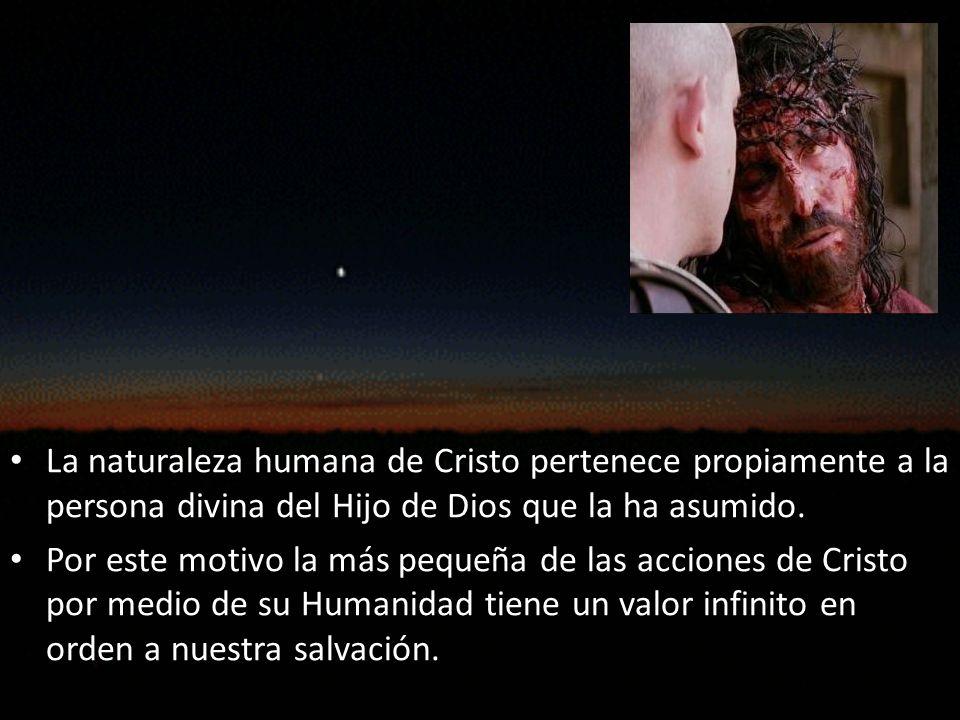 Anonadamiento: El Señor asumió la naturaleza humana sin manifestar en su Humanidad la gloria sobrenatural que le correspondía: se anonadó a sí mismo (Philip 2,7): padeció hambre, cansancio, etc.