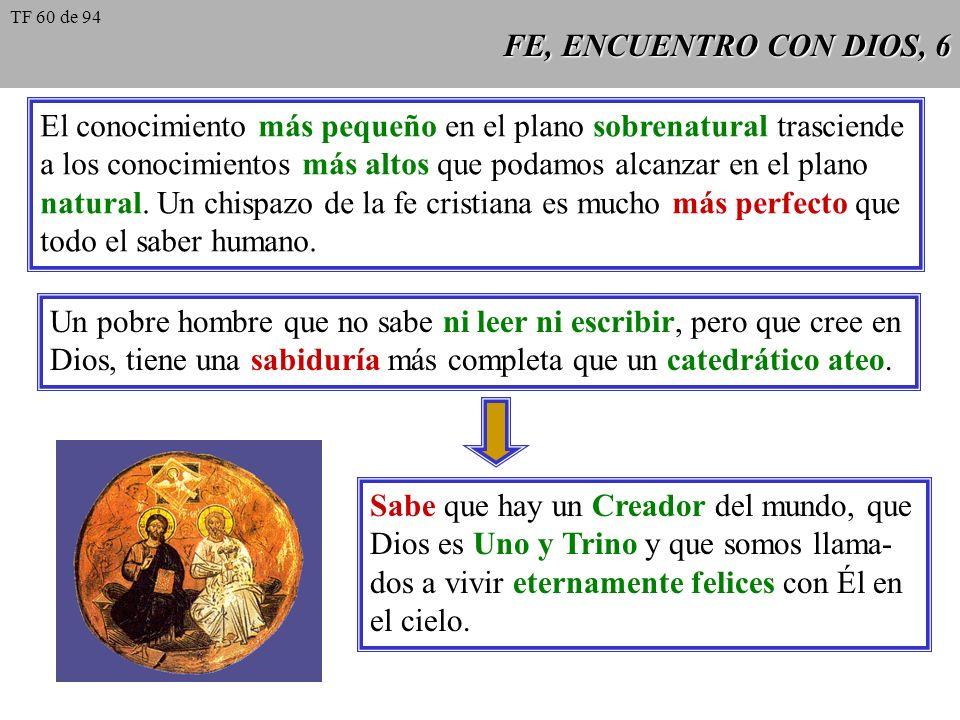 FE, ENCUENTRO CON DIOS, 7 En el caso de la fe sobrenatural, el testigo que nos trae el mensaje es Jesucristo mismo: es el único que ha visto a Dios.