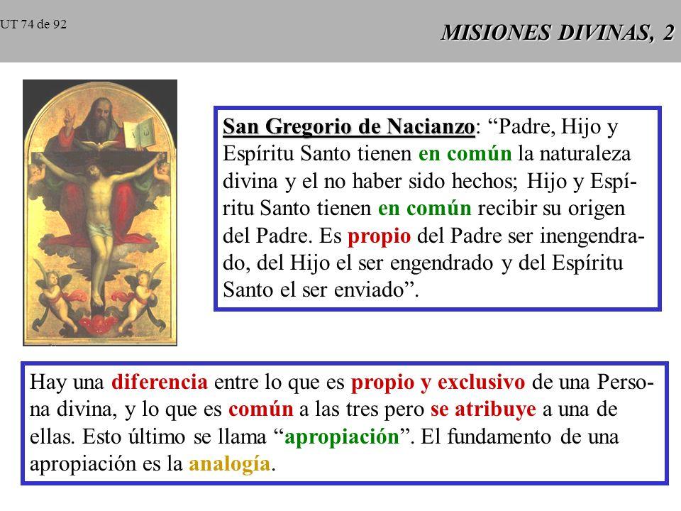 MISIONES DIVINAS, 1 CCE 258 CCE 258: Toda la economía divina es la obra común de las tres Personas divinas.