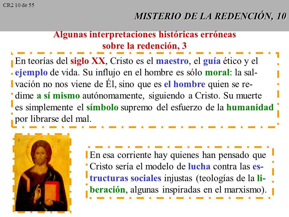 MISTERIO DE LA REDENCIÓN, 9 Algunas interpretaciones históricas erróneas sobre la redención, 2 Para Lutero, la satisfacción (cfr. San Anselmo) tiene l