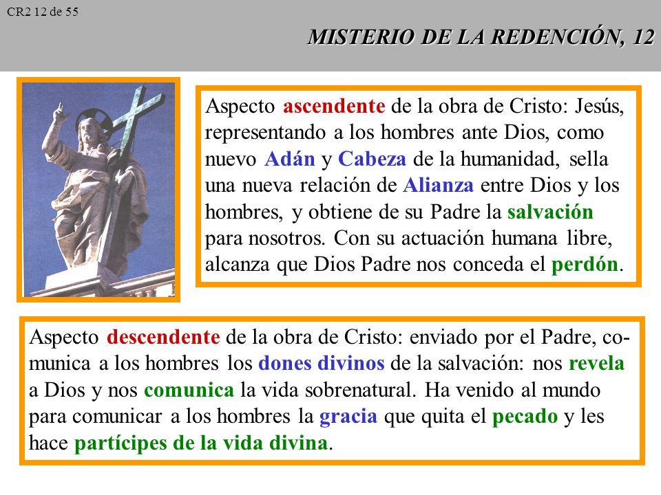 MISTERIO DE LA REDENCIÓN, 11 La salvación del hombre nace del amor misericordioso de Dios. La redención es ante todo una intervención descendente y mi