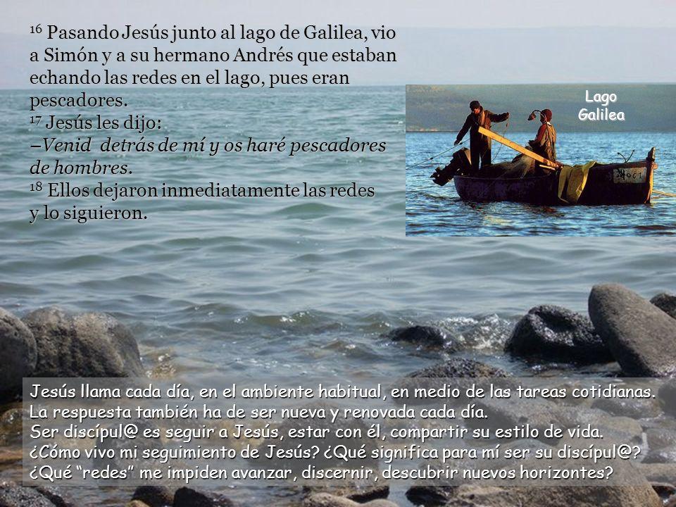 14 Después que Juan fue arrestado, marchó Jesús a Galilea, proclamando la buena noticia de Dios.