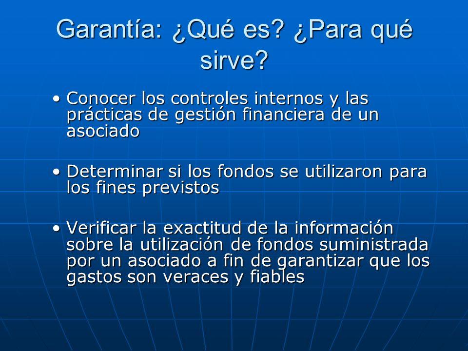 Garantía: ¿Qué es? ¿Para qué sirve? Conocer los controles internos y las prácticas de gestión financiera de un asociadoConocer los controles internos
