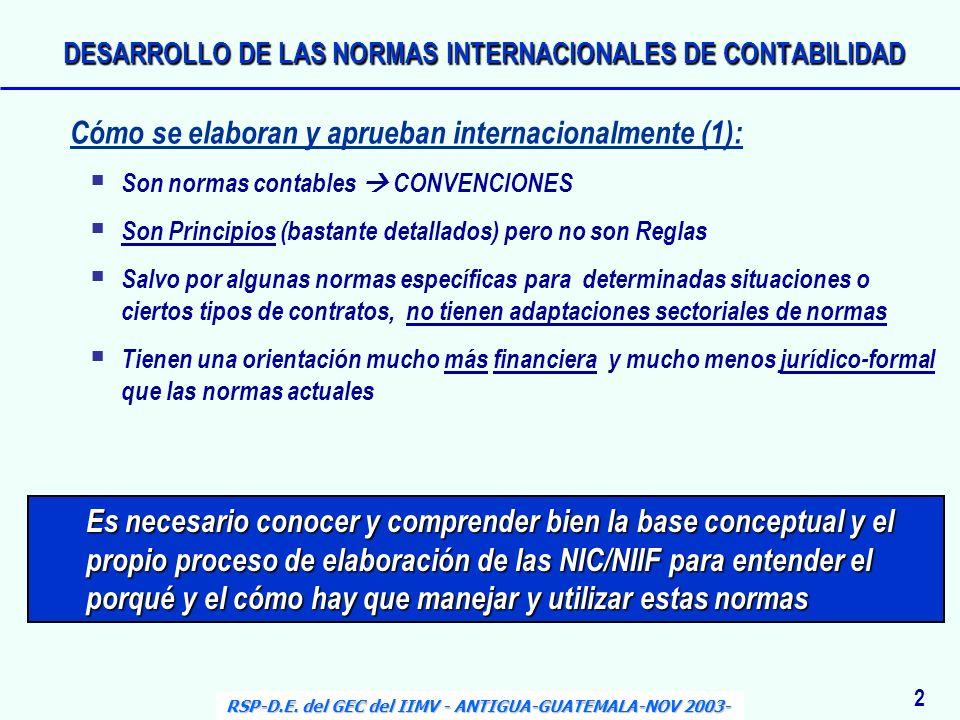 Es necesario conocer y comprender bien la base conceptual y el propio proceso de elaboración de las NIC/NIIF para entender el porqué y el cómo hay que