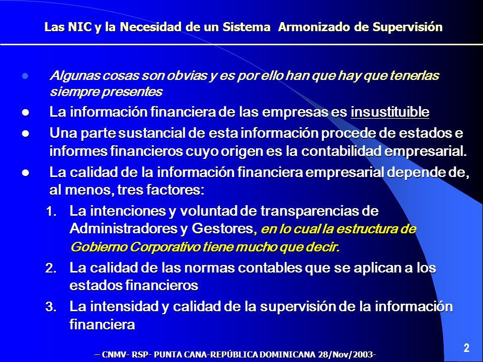 Las NIC y la Necesidad de un Sistema Armonizado de Supervisión Regional de la Información Financiera (el caso de la UE) 1 Instrumentos de mejora de la