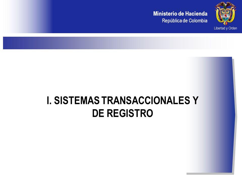 Ministerio de Hacienda República de Colombia II. SISTEMA OPCFS