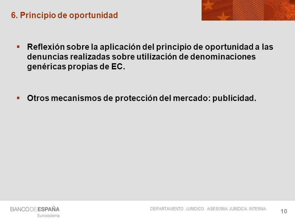 DEPARTAMENTO JURIDICO.ASESORIA JURIDICA INTERNA 11 Cómo actúa el Banco de España?.