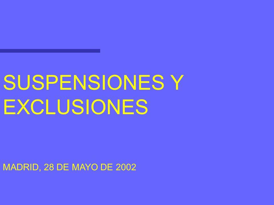 SUSPENSIONES Se regulan en el art.33 de la LMV.