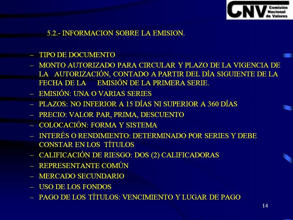 13 V.- VERSIÓN PRELIMINAR DEL PROSPECTO. 5.1.- PORTADA- PRIMERA PÁGINA.
