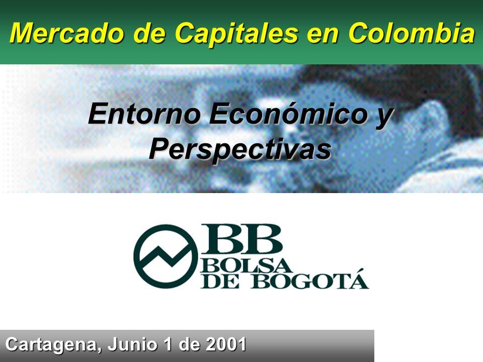 Cartagena, Junio 1 de 2001 Mercado de Capitales en Colombia Entorno Económico y Perspectivas