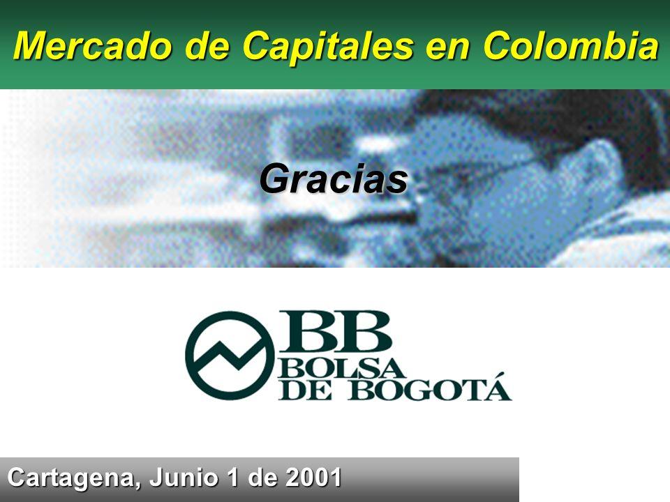 Cartagena, Junio 1 de 2001 Mercado de Capitales en Colombia Gracias