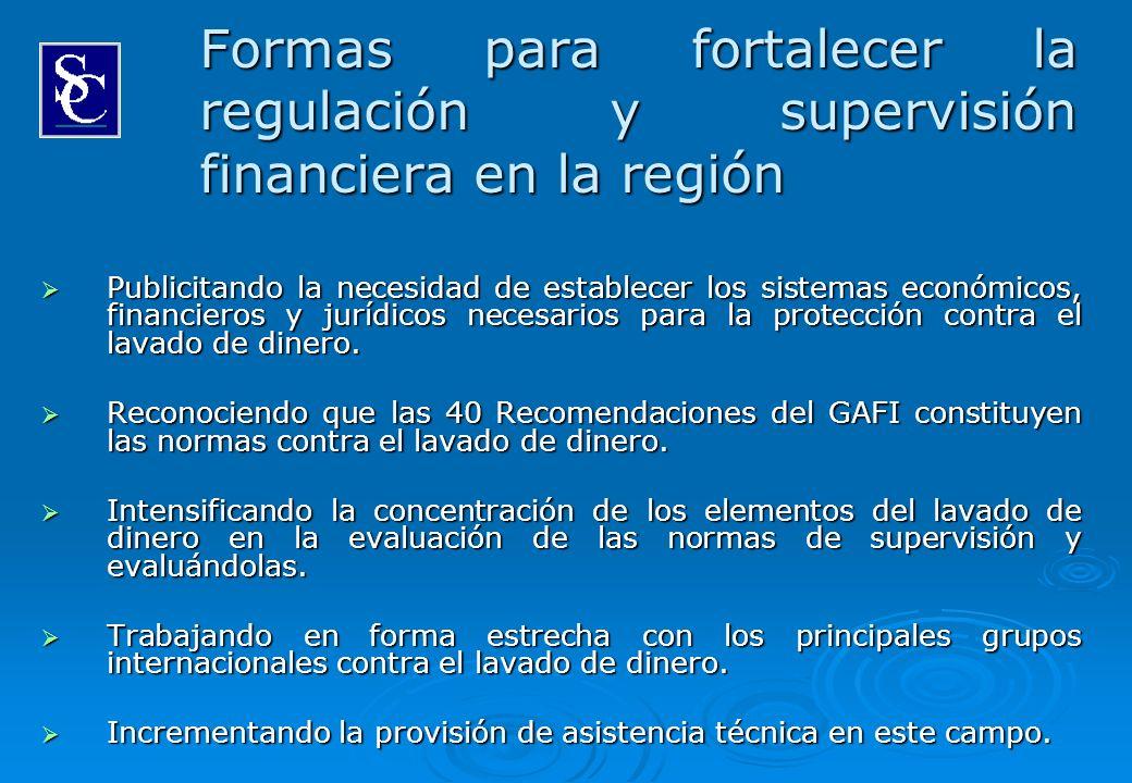 Formas para fortalecer la regulación y supervisión financiera en la región Publicitando la necesidad de establecer los sistemas económicos, financiero