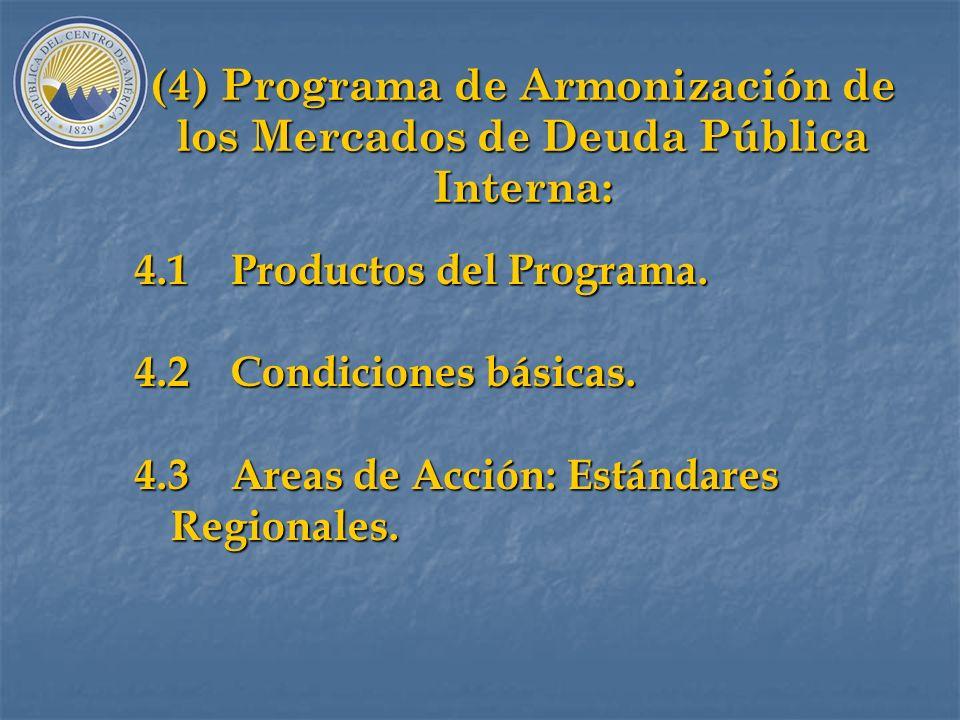 (3) Diagnóstico 1999 3.5Factores Regionales. a)Obstáculos al registro, calificación y negociación transfronteriza de títulos públicos. b)Diferentes co