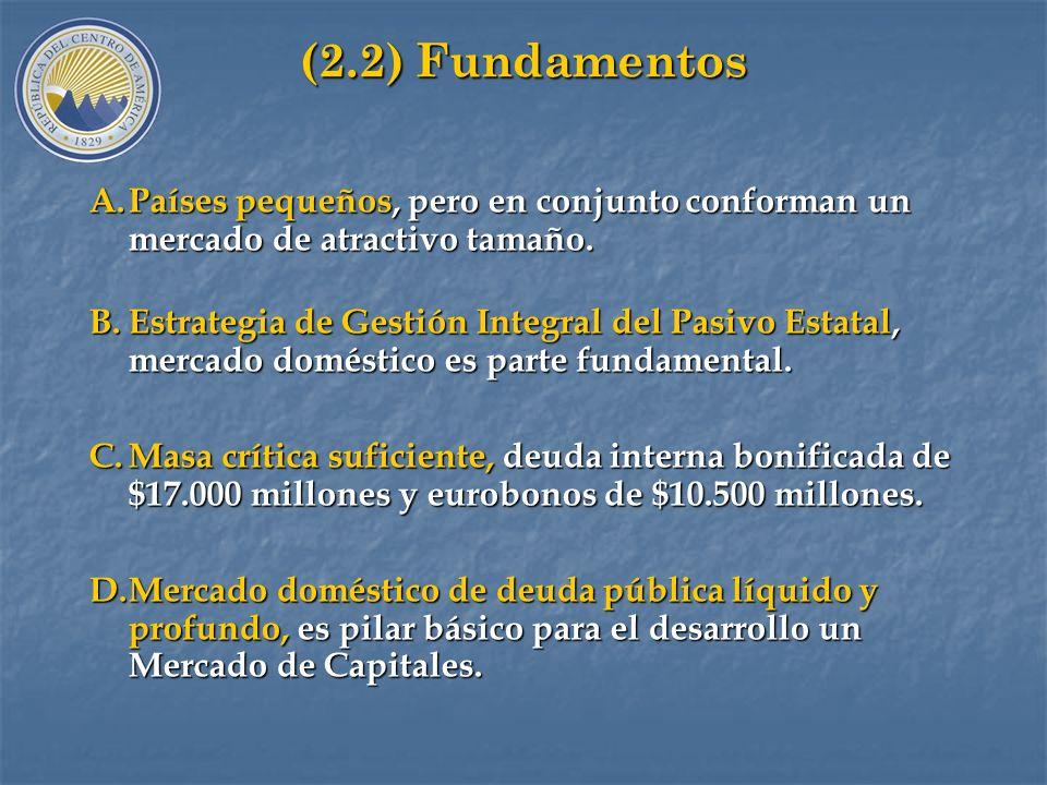 (2) Programa de Armonización de los Mercados de Deuda Pública Interna: (2.1) Objetivos A. AMBITO NACIONAL: Desarrollar mercados domésticos de deuda pú