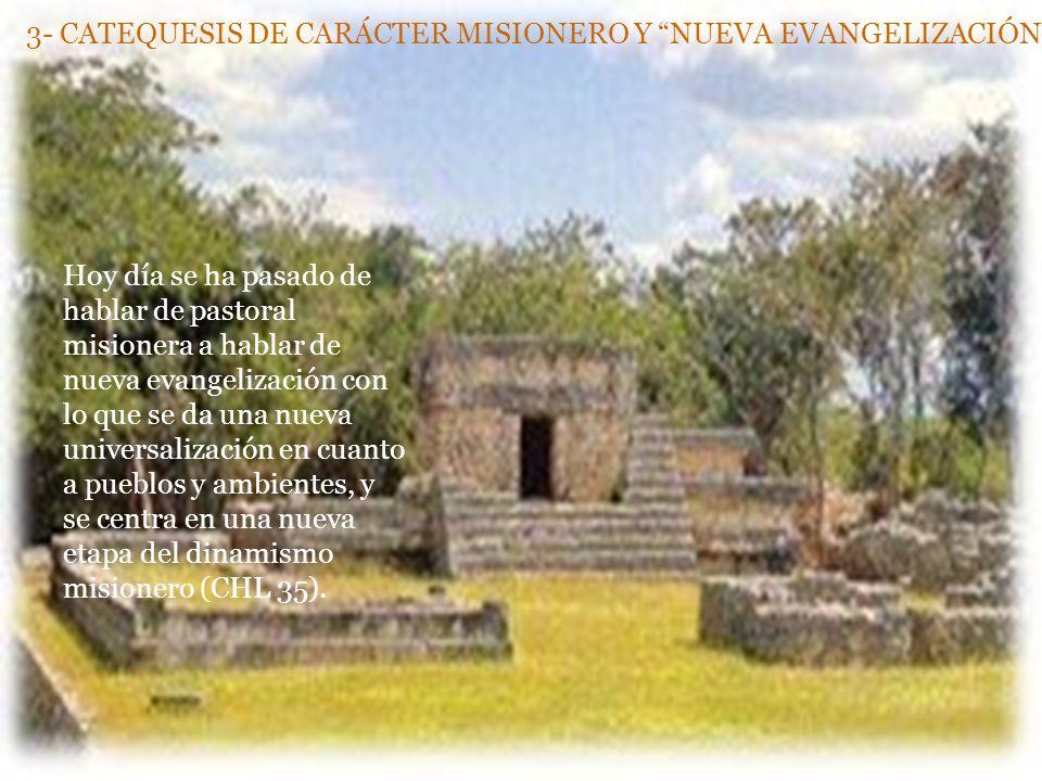 3- CATEQUESIS DE CARÁCTER MISIONERO Y NUEVA EVANGELIZACIÓN.