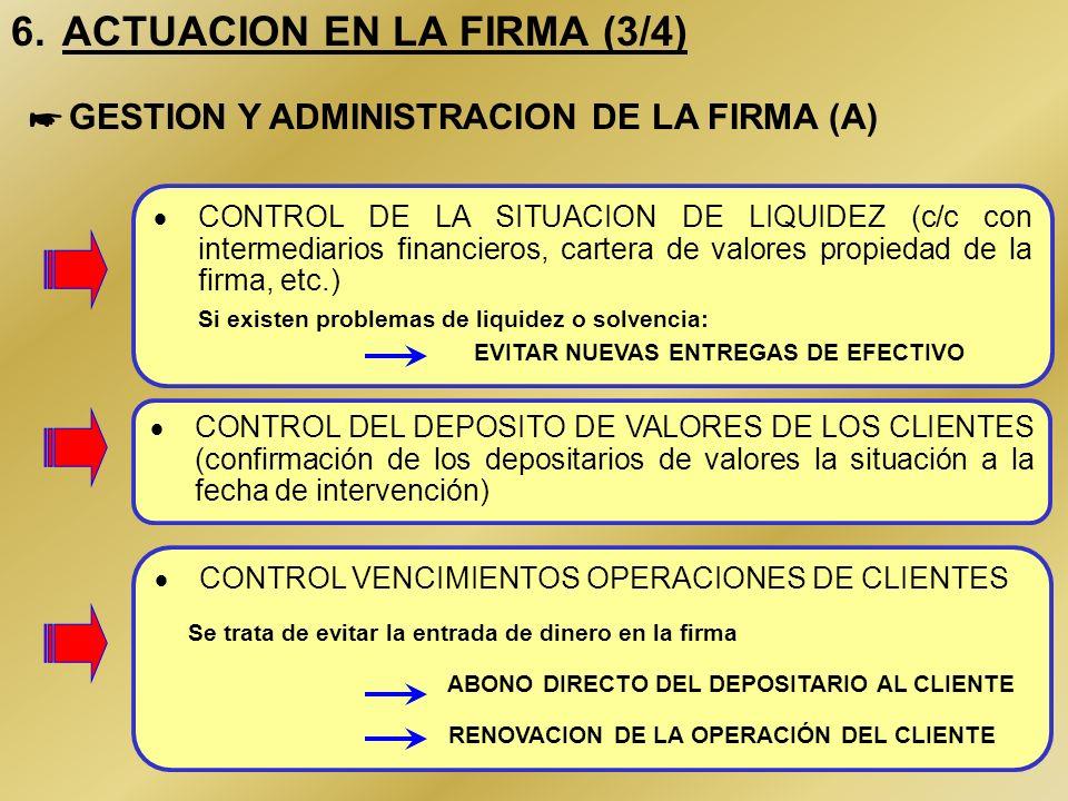 15 6. ACTUACION EN LA FIRMA (2/4) Los interventores están facultados para revocar cuantos poderes se hubieran otorgado con anterioridad a la fecha de