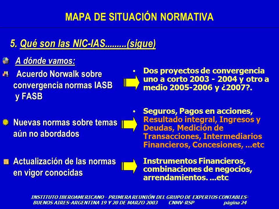 A dónde vamos: A dónde vamos: Acuerdo Norwalk sobre convergencia normas IASB y FASB Nuevas normas sobre temas aún no abordados Actualización de las no