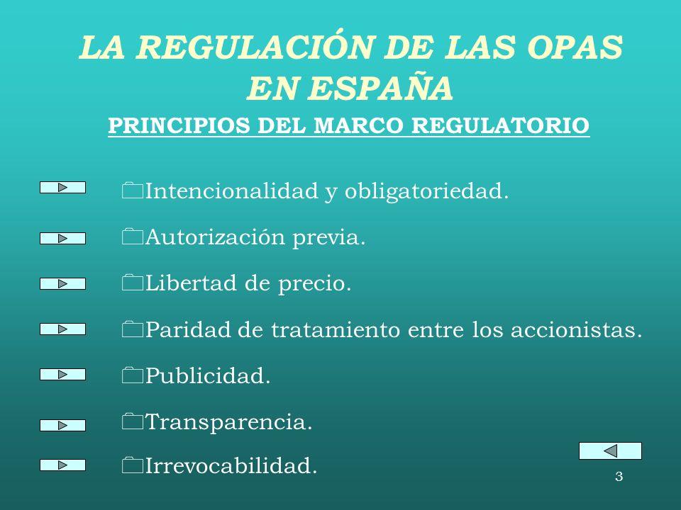 3 PRINCIPIOS DEL MARCO REGULATORIO Intencionalidad y obligatoriedad.