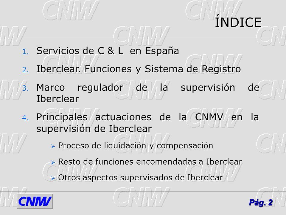3 Pág. 3 1. SCL EN ESPAÑA Fuente: Iberclear