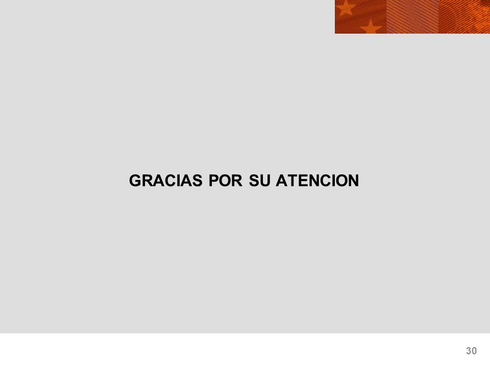 30 GRACIAS POR SU ATENCION