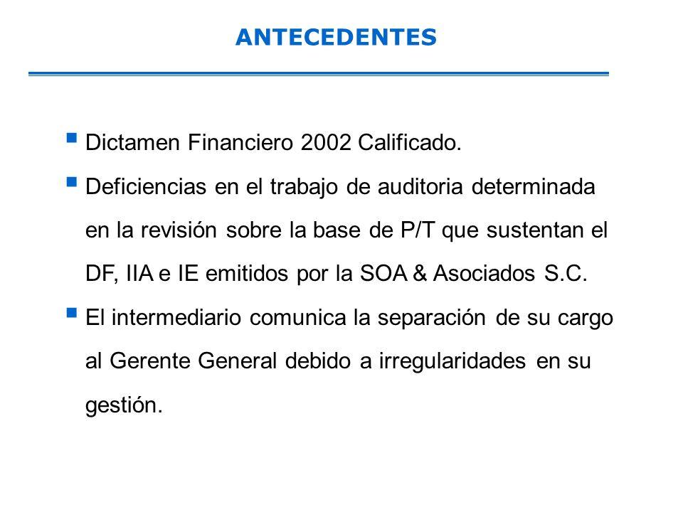 ANTECEDENTES Dictamen Financiero 2002 Calificado.