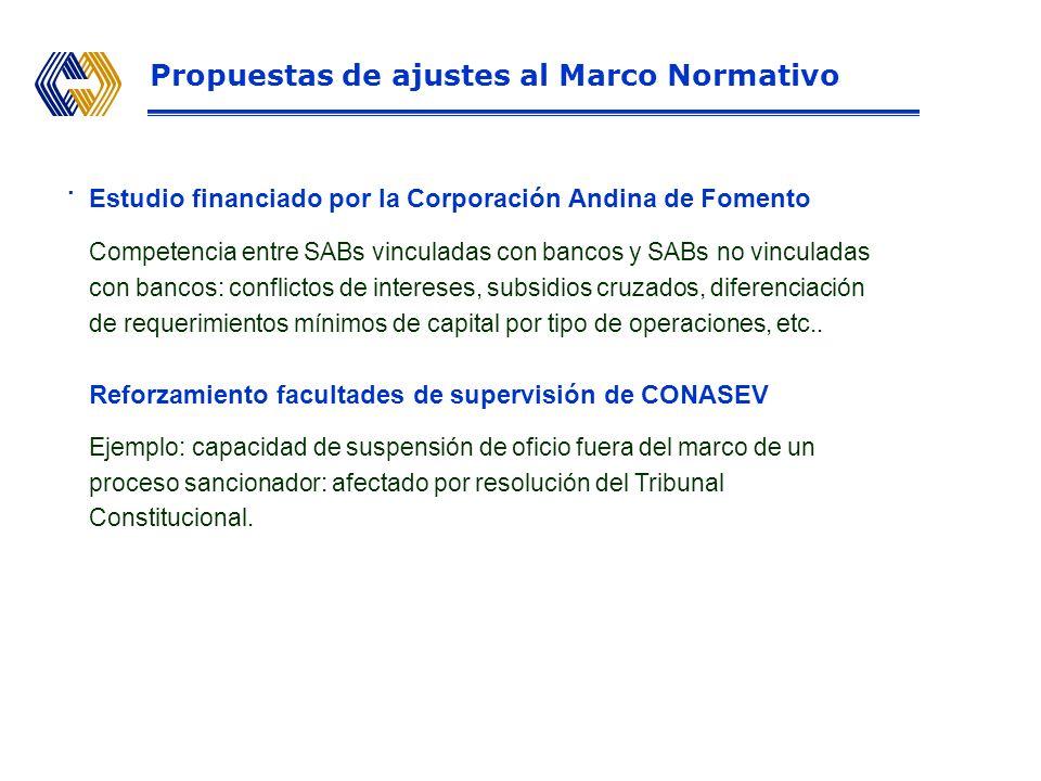 Estudio financiado por la Corporación Andina de Fomento Competencia entre SABs vinculadas con bancos y SABs no vinculadas con bancos: conflictos de intereses, subsidios cruzados, diferenciación de requerimientos mínimos de capital por tipo de operaciones, etc..