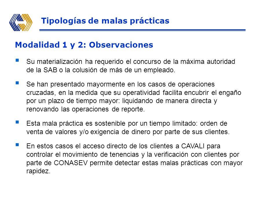 Modalidad 2 Primera operación SAB adquiere valores y los registra a nombre de comitentes sin su autorización SAB A Dinero Valores (V) Bolsa Valores EL