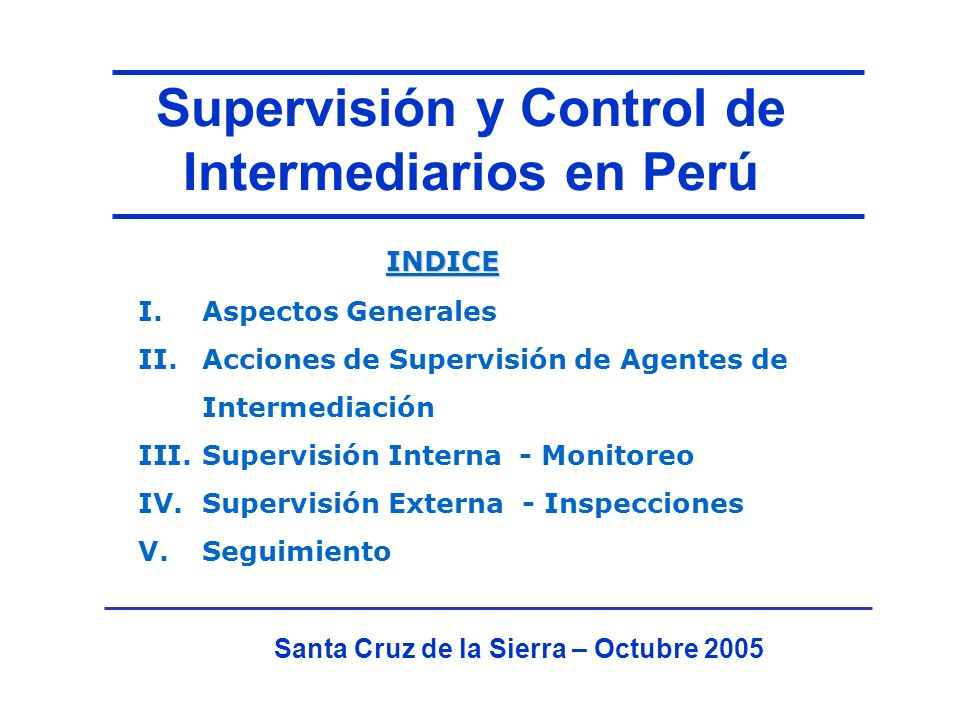 III.Supervisión Interna - Monitoreo