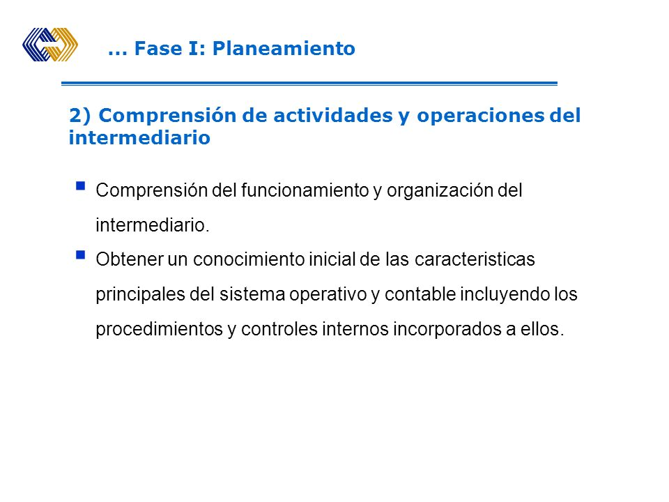 ... Fase I: Planeamiento Ficha del Intermediario del Registro Público del Mercado de Valores. Informes de inspecciones anteriores. Antecedentes de san