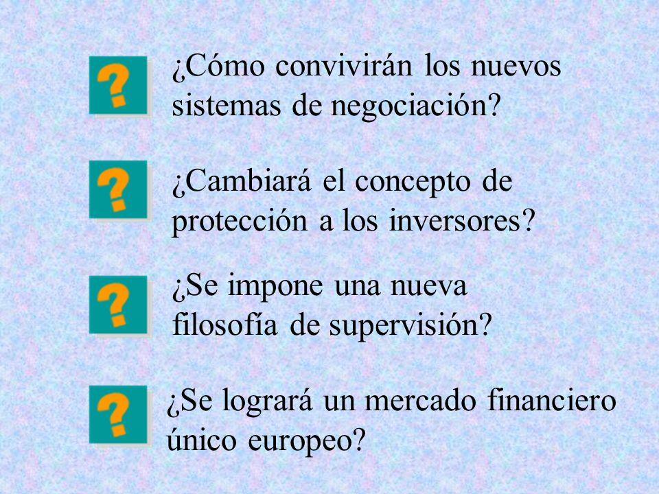 ¿Cómo convivirán los nuevos sistemas de negociación? ¿Se logrará un mercado financiero único europeo? ¿Cambiará el concepto de protección a los invers