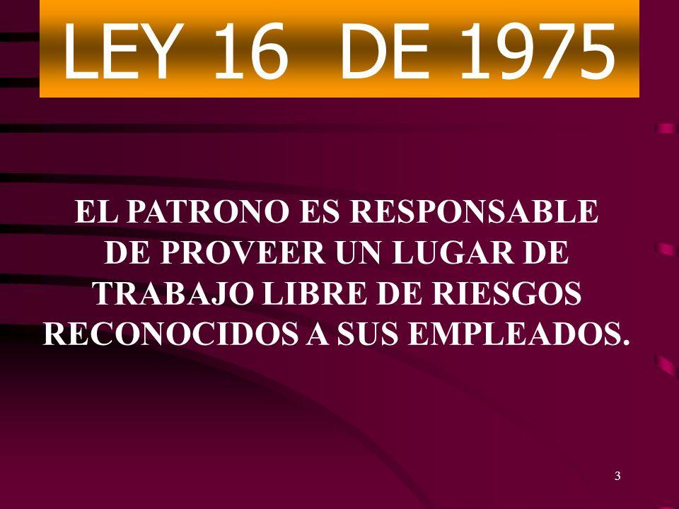 Comunicación de Riesgos 29 CFR 1910.1200 4 EL EMPLEADO ES RESPONSABLE DE CUMPLIR CON LAS NORMAS DE SEGURIDAD Y SALUD OCUPACIONALES Y CON TODAS LAS REGLAS Y REGLAMENTOS Y ORDENES EMITIDAS DE CONFORMIDAD CON ESTA LEY, QUE SEAN APLICABLES A SUS PROPIOS ACTOS Y CONDUCTA.