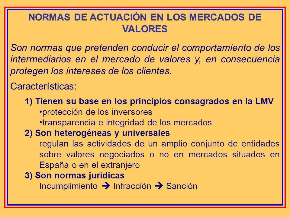 NORMAS DE ACTUACIÓN EN LOS MERCADOS DE VALORES Mario Marchiandi Alberdi Subdirector de la División de Supervisión e-mail: marchiandi@cnmv.es