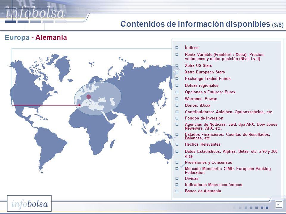 17 Infobolsa@net es un servicio que permite insertar en cualquier web componentes y herramientas de información financiera suministrados por Infobolsa, sin necesidad de desarrollos específicos.