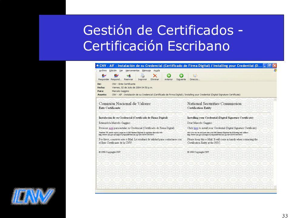 33 Gestión de Certificados - Certificación Escribano