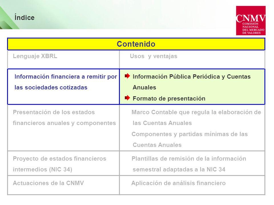 Información financiera a remitir por las sociedades emisoras Naturaleza Información Marco Regulatorio 1.