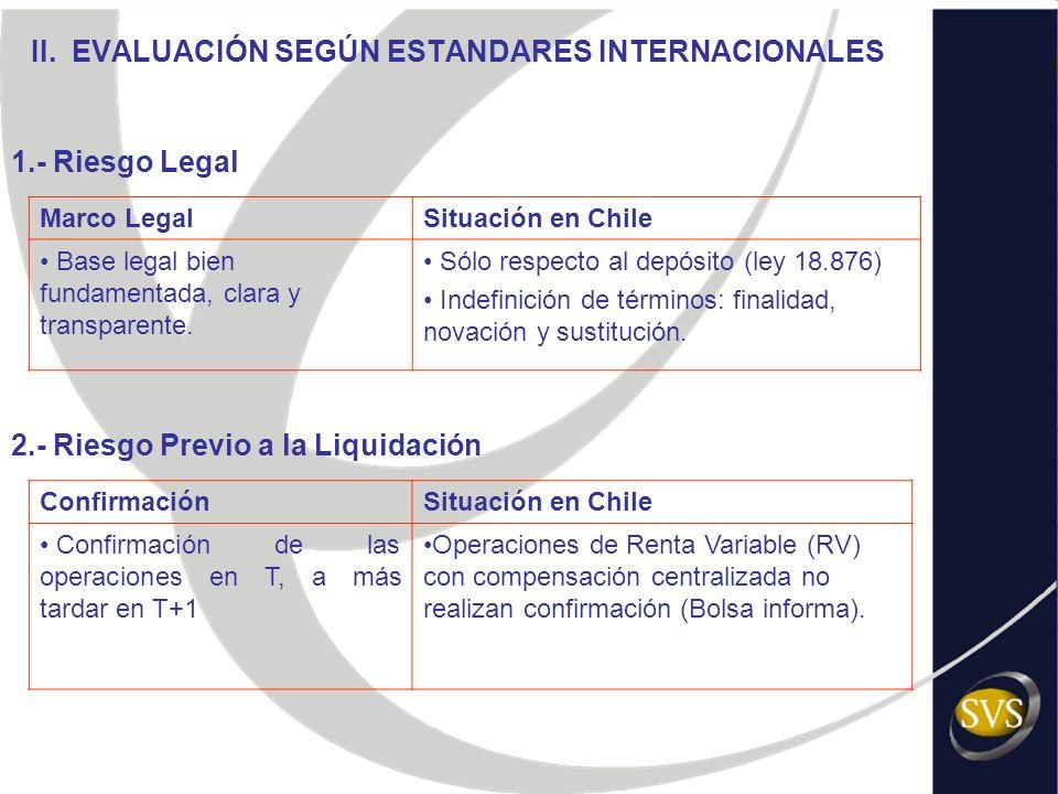 ConfirmaciónSituación en Chile Confirmación de las operaciones en T, a más tardar en T+1 Operaciones de Renta Variable (RV) con compensación centraliz