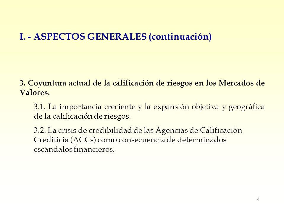 4 I. - ASPECTOS GENERALES (continuación) 3.
