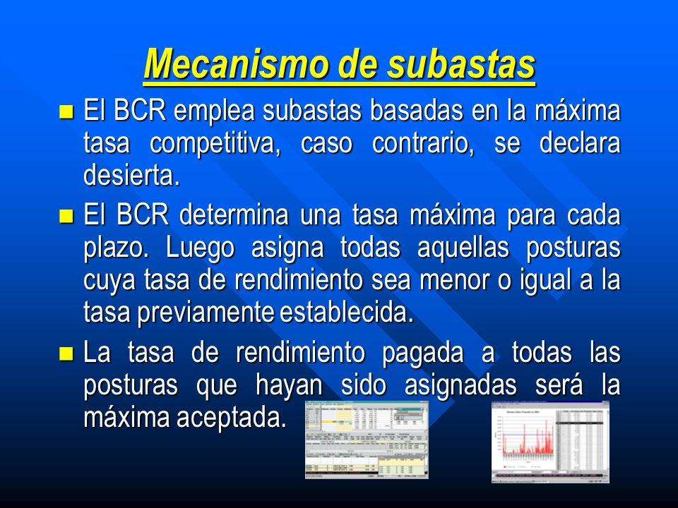 Características de los CENELIS Mecanismo de colocación: Ventaval Mecanismo de colocación: Ventaval Forma de colocación: A descuento Forma de colocación: A descuento Plazos: 4,5,6,7,8,11,12,13,14,18,91,182,365 dias.