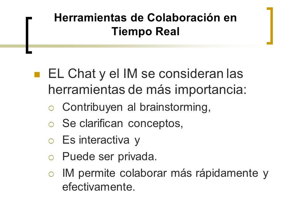 Sincrónicas: comunicación entre personas, presentaciones remotas, Chat, reuniones en línea, pizarra compartida y salones virtuales en tiempo real.