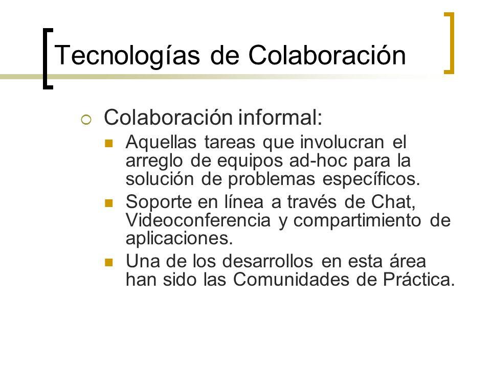 Otras herramientas: Videoconferencia, ejemplo: Netmeeting, PlaceWare.