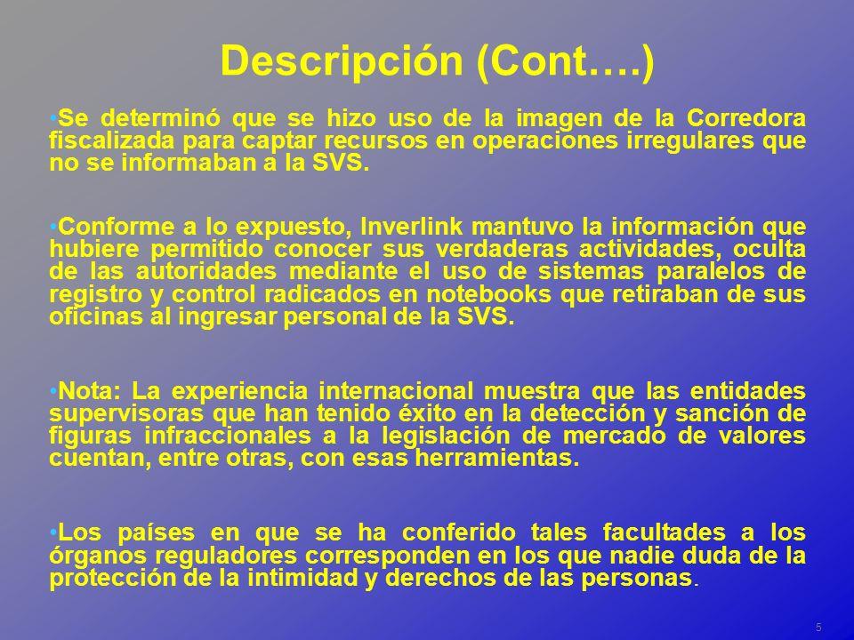 16 CORREDORA DE BOLSA B Operaciones con Inmobiliaria, Inversiones y Asesorías Duao Ltda.