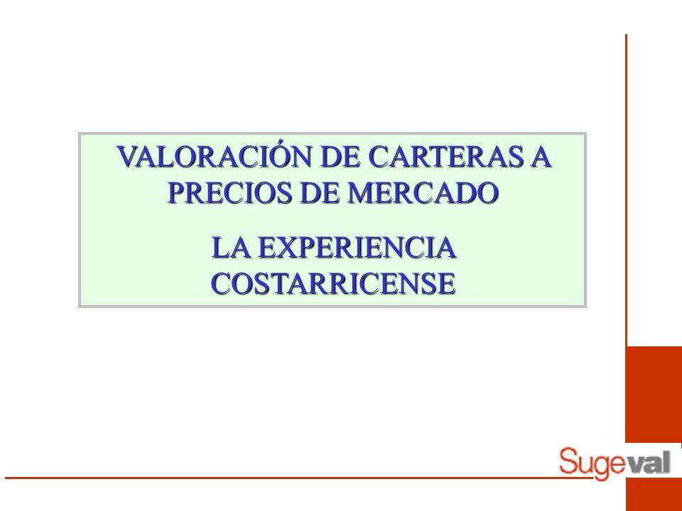 VALORACIÓN DE CARTERAS A PRECIOS DE MERCADO LA EXPERIENCIA COSTARRICENSE
