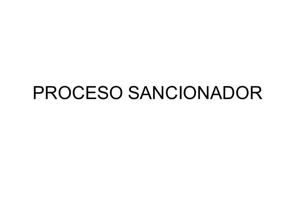 PROCESO SANCIONADOR