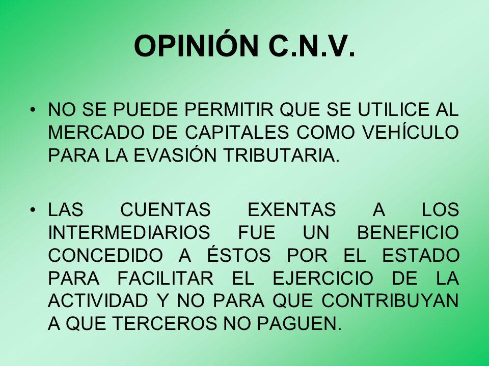 OPINIÓN C.N.V.