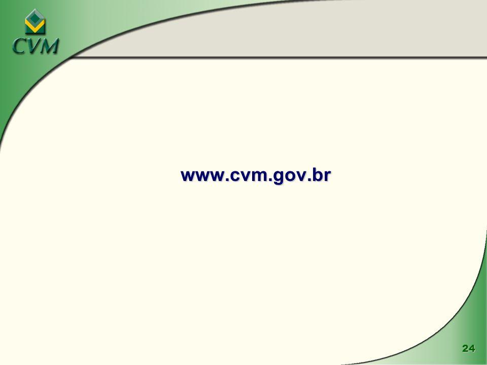 24 www.cvm.gov.br