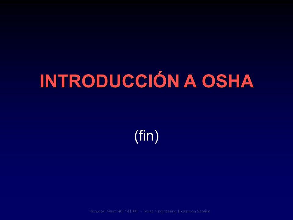 INTRODUCCIÓN A OSHA (fin)