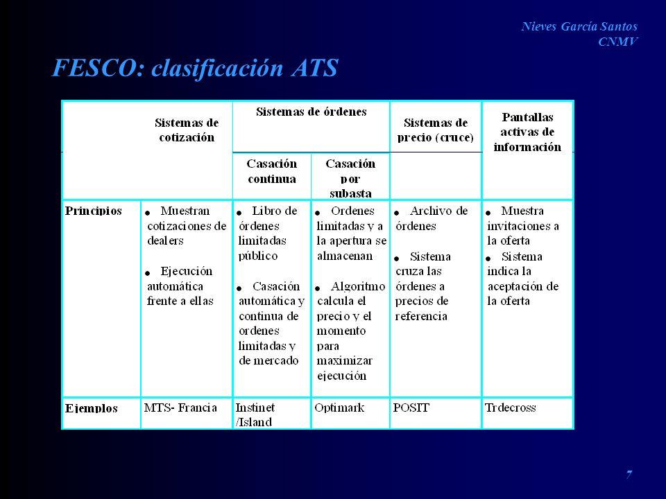 FESCO: clasificación ATS Nieves García Santos CNMV 7