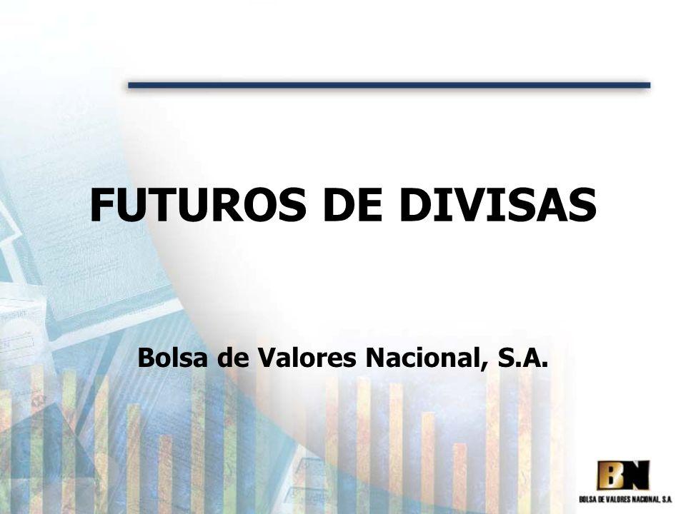 FUTUROS DE DIVISAS Bolsa de Valores Nacional, S.A.