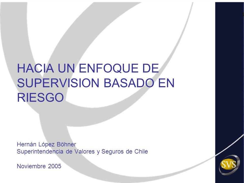 HACIA UN ENFOQUE DE SUPERVISION BASADO EN RIESGO Hernán López Böhner Superintendencia de Valores y Seguros de Chile Noviembre 2005