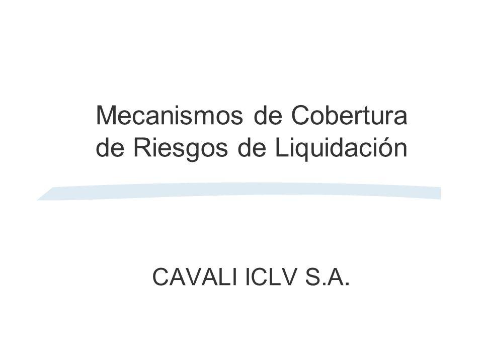 Mecanismos de Cobertura de Riesgos de Liquidación CAVALI ICLV S.A.